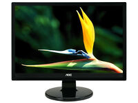 19-inch AOC LED Monitor - Built-in speakers
