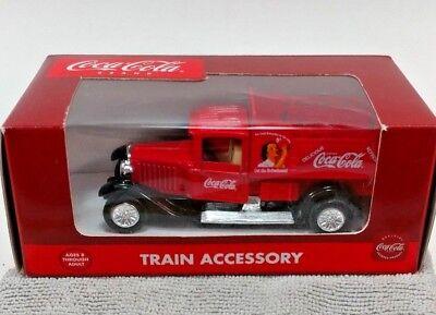 Coca-Cola Brand Train Accessory Die-Cast #K-94528 Red Delivery Truck