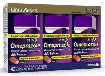 Omeprazole Delayed Release Tablets 20-mg, Acid Reducer 42 Count Tablets