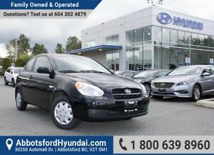 2011 Hyundai Accent L BC OWNED, LOW KILOMETRES & GREAT CONDITION