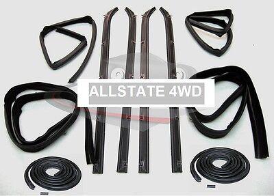 (10 Piece Rubber Door Window Weatherstrip Seal Kit for 80-93 Dodge Truck D W 150)