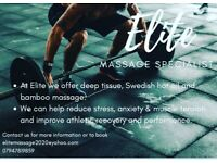 Elite massage specialist offering the best professional massage in Essex