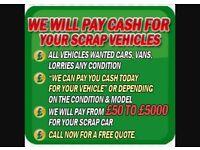 Scrap cars wanted mot failures non runners