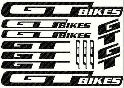 GT Bikes decals stickers sheet (cycling, mtb, bmx, road, bike) die-cut