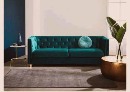 Brand new Freedom BOYD 3 Seat Fabric Sofa rrp $1299