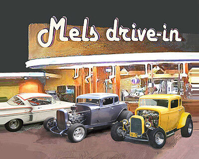 PUT YOUR CAR at Graffiti's MELS DRIVE-IN Print Gift