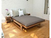 Pristine Futon Company Sofa Bed. East Dulwich.