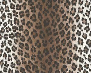 6630-23) feinste Satin Tapete edelste Qualität Leopard-Design ANGEBOT