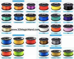 3D Filament PLA / ABS 1.75mm 1 Kilogram FREE SHIPPING