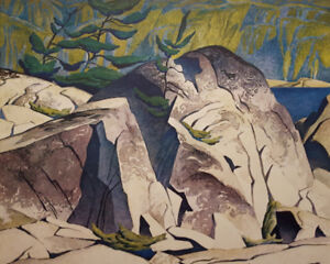 """A.J. Casson """"Rock Cluster"""" Lithograph - Appraised at $1200"""