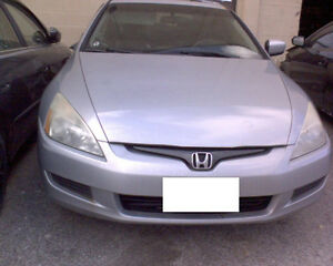 2003 Honda Accord V4 Coupe 2DR for PARTS! K24, Silver