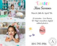 Easter Photo session *Live Bunny*