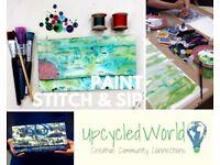 Paint Stitch & Sip! Paint Your Fabric & Make A Clutch Bag - Sat 18th Nov 4-7pm