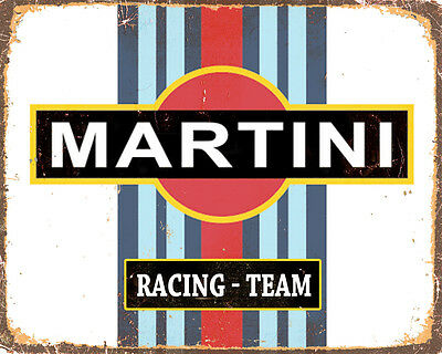 Martini Racing Team VINTAGE ENAMEL METAL TIN SIGN WALL PLAQUE