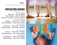 Music, Movement and Theatre children's classes have spaces left!