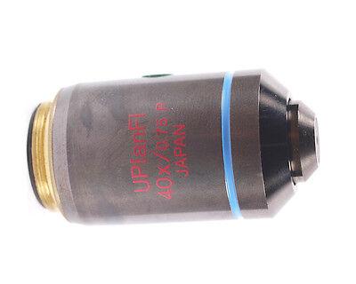 Olympus Uplanfl 40x P Pol Polarizing Strain-free Microscope Objective For Bx