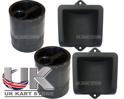 High Strength Cadet / Junior Karting Pedal Extensions & Feet Cups / Support Kart