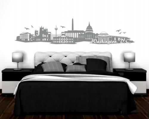 Washington, D.C. Wandtattoo Skyline Wandtattoo
