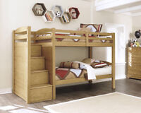Bunk Bed with steps / storage by Ashley Furniture