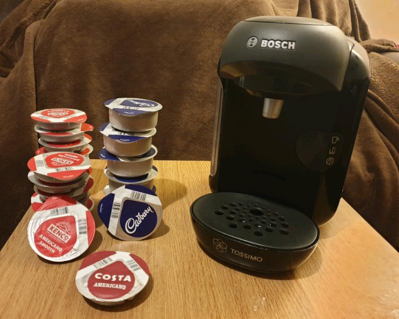 Bosch Tassimo coffee pod machine + lots of drinks pods | in Stevenage, Hertfordshire | Gumtree