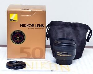 Nikon AF-S Nikkor 50mm f/1.4G LNIB with B+W filter