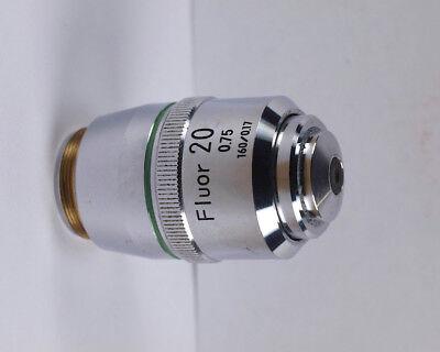 Nikon Fluor 20x .75 160mm Tlmicroscope Objective