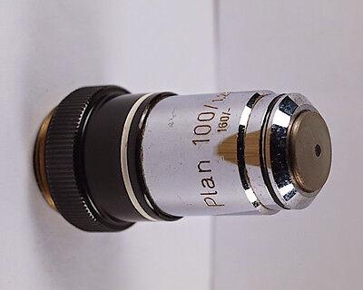 Zeiss Plan 100x 1.25 Oil 160mm Tl Microscope Objective