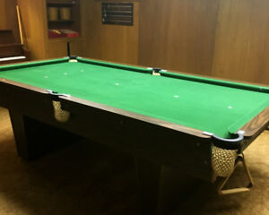 Slate Pool Table - excellent condition, 4 x 8 ft