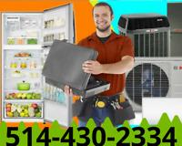 Réparation réfrigérateur électroménager frigidaire frigo fridge