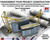 FINANCEMENT DISPONIBLE POUR PROJECT CONSTRUCTION