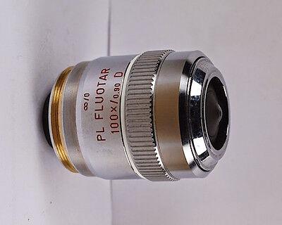 Leitz Pl Fluotar 100x D M32 Infinity Microscope Objective