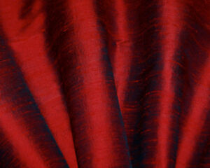 4 Blackout black burgundy dupioni silk curtains