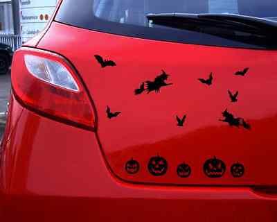Halloween Auto Dekorationen (Autoaufkleber Halloween Aufkleber Set 25 Farben 5 Größen Autosticker Sticker)
