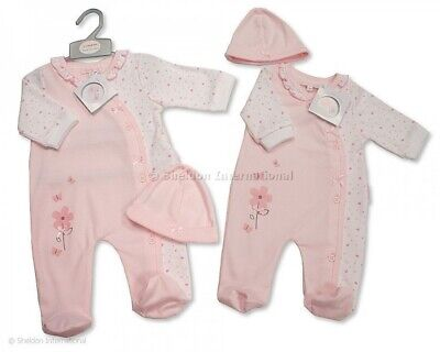 Baby Girl Clothes Spanish style outfit sleepsuit Romper Hat  Pink NB 0-3 months  - Spanish Girl Outfit