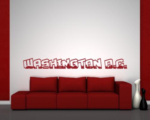 Washington, D.C. Wandtattoo Schriftzug Wandaufkleber