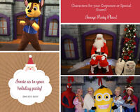 Characters for Birthday Parties, Corporate and Special Events