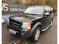 2007 LAND ROVER DISCOVERY 3 LAND ROVER TDV6 XS BLACK LEATHER AIR CON HEATED SETA