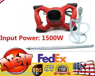 1500w Hand-held Industrial Electric Concrete Cement Mixer Mixer Mortar Fast Ship