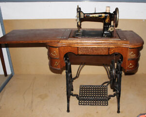 RAYMOND NEW IMPROVED TREADLE SEWING MACHINE