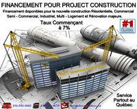 Prêt Construction  ** FINANCEMENT  PROJECT CONSTRUCTION **