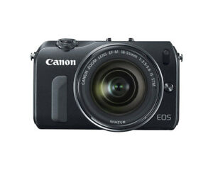Canon EOS-M w/18-55 STM & Extras