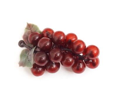 Grape Decor - 12 Bunch Lifelike Plastic Grapes Wedding Favor Fruit Wine Decor 3