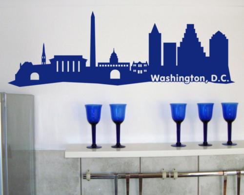 Samunshi Washington, D.C. Skyline Wandtattoo   25 Farben 5 Größen