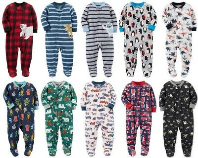 Carters Boys Pajamas one piece footed Christmas NWT