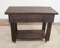 Solid Wood Kitchen Island Cart