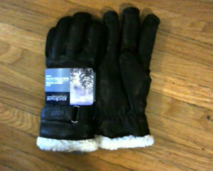 Mens Deerskin Leather Gloves with Fleece Lining[new]