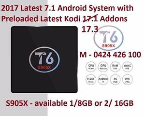 2017 latest Kodi 17.3 Ioaded S905X TV BOX T6 Android 7.1 2gb/16gb Noble Park Greater Dandenong Preview