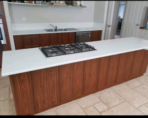 Kitchen Island And Wall Base Units With Tops