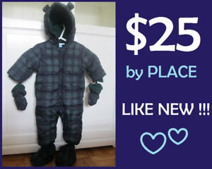 Boys WINTER SNOWSUIT by PLACE (Size: 12-18 Months) --- $25 !!!