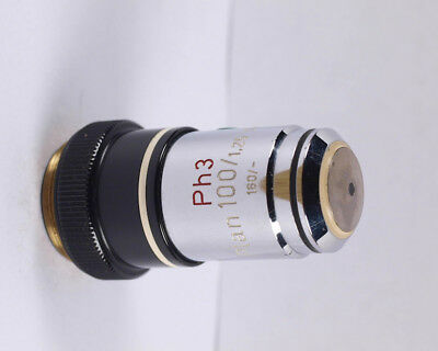 Zeiss Plan 100x 1.25 Ph3 Phase Contrast 160 Tl Microscope Objective